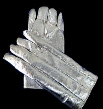 CPA Aluminized Para-Aramid Lined Neoprene-Coated Needle Punched Nomex High Heat Protective Gloves