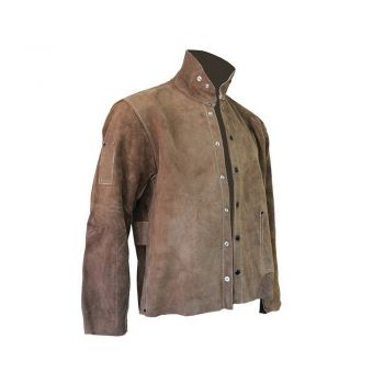CPA Leather Welding Jacket, Brown Color 1 Each   600-CL