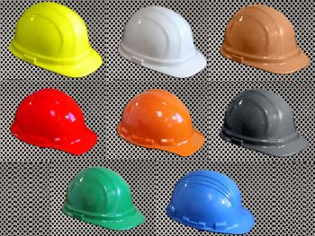 Plastic Hard Cap with Ratchet Headband - Assorted Colors Available