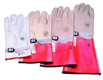 """12"""" High Voltage Leather Protector Gloves"""