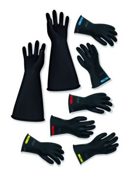 "CPA  LRIG-2-16 Class 2 16"" Insulated Rubber Gloves Black"