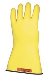 "CPA LRIG-1-16 Class 1 16"" Rubber Insulated Gloves - Yellow/Black"