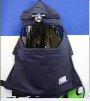 CPA 43 Cal Arc Flash Protective Hood With Flash Light & Hard Cap