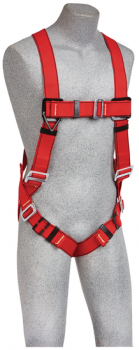 3M Protecta 1191379 PRO Vest-Style Welders Harness, Red, Medium/Large