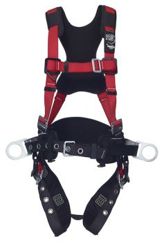 3M™ PROTECTA® PRO™ Construction Style Positioning Harness - Comfort Padding 1191433, Red, Medium/Large
