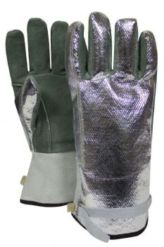 NSA DJXG382S Aluminized Leather Glove Adjustable Strap
