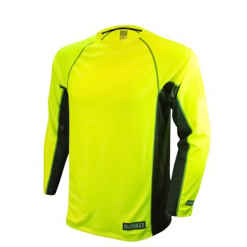 Radians Dewalt Hi Vis Non Rated Two Tone Performance Long Sleeve T Shirt 1 Each