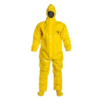 Tychem BR Coveralls with Attached Boots, Hood and Elastic Wrists/Face - Taped Seams 2/Case