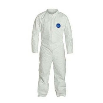 DuPont™ Tyvek TY120S White Coveralls - Vend Pack - Open Wrists and Ankles Serged Seams (Case of 25)