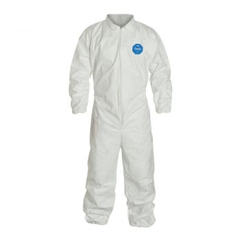 DuPont Tyvek TY125S Coveralls, Elastic Wrists and Ankles