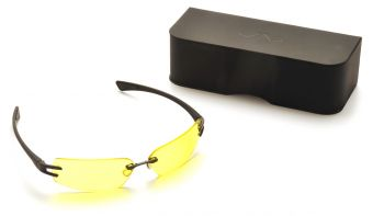 Pyramex DV30 Black Frame/Yellow Tinted Lens With Anti-Reflection Coating