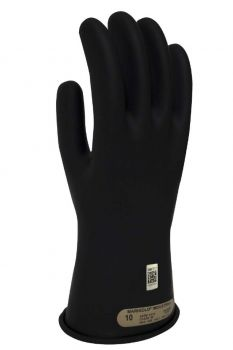 NSA DWH1100 Class 00 Black Rubber Voltage Gloves 1 Pair