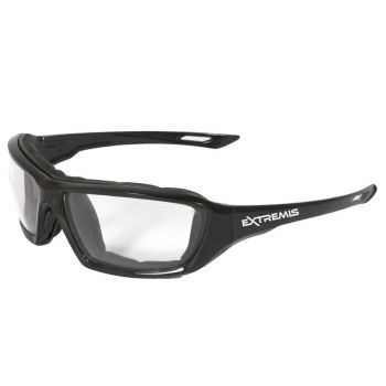 Radians Extremis - Clear AF Safety Glasses  Style Black Color - 12 Pairs / Box