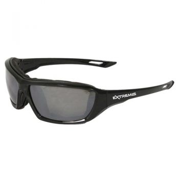 Radians Extremis -Silver Mirror AF Safety Glasses  Style Black Color - 12 Pairs / Box