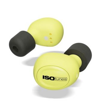ISOtunes™ IT-12 FREE True Wireless Bluetooth Earbuds - Safety Yellow