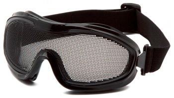 Pyramex  Wire Mesh Goggle  Black goggle  single wire mesh lens Polycarbonate Safety Glasses  12 / BX