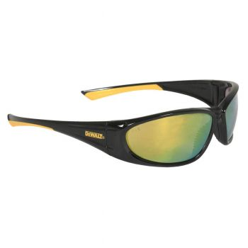DEWALT Gable Yellow Mirror Lens Safety Glasses Full Frame Style Black Color - 12 Pairs / Box