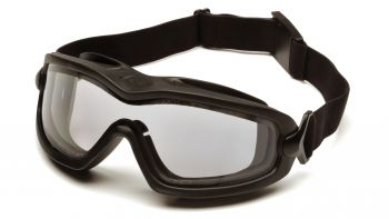 Pyramex  V2G Plus  Black Frame/Dual Clear Anti Fog Lens Polycarbonate Safety Glasses  12 / PR