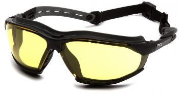 Pyramex Isotope BlackGray Body / Amber H2MAX AF Lens Safety Glasses 12/BX