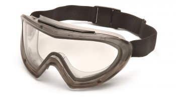 Pyramex  Capstone  Direct/Indirect Gray Frame/Clear Anti Fog Lens Polycarbonate Safety Glasses  12 / BX