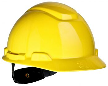 3M™ Hard Hat H-702R, Yellow 4-Point Ratchet Suspension (Case of 20)