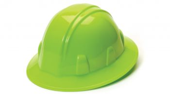 Pyramex HP24131 SL Series Full Brim Hard Hat One Size ANSI Z89.1 standards, Type 1 - Class C, G, and E Polyethylene  Lime Color - 12 / CS