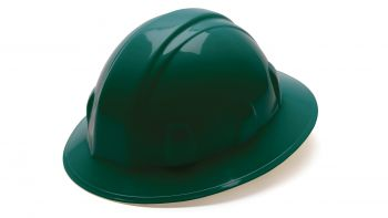 Pyramex HP24135 SL Series Full Brim Hard Hat One Size ANSI Z89.1 standards, Type 1 - Class C, G, and E Polyethylene  Green Color - 12 / CS