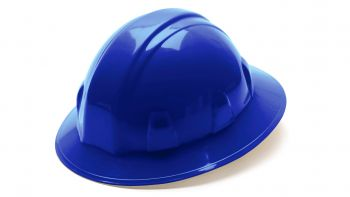 Pyramex Hard Hats Blue -Standard Shell 4 Pt Ratchet Suspension (1 Case of 12)