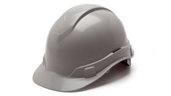 Pyramex HP44112 Ridgeline Hard Hat One Size ANSI Z89.1 standards, Type 1 - Class C, G, and E ABS  Gray Color - 16 / CS