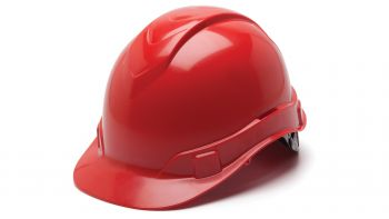 Pyramex HP46120 Ridgeline Hard Hat One Size ANSI Z89.1 standards, Type 1 - Class C, G, and E ABS  Red Color - 16 / CS