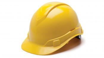 Pyramex HP44130 Ridgeline Hard Hat One Size ANSI Z89.1 standards, Type 1 - Class C, G, and E ABS  Yellow Color - 16 / CS
