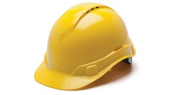 Pyramex HP44130V Ridgeline Hard Hat One Size ANSI Z89.1 standards, Type 1 - Class C, G ABS  Yellow Color - 16 / CS