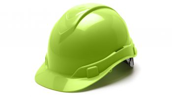 Pyramex HP46131 Ridgeline Hard Hat One Size ANSI Z89.1 standards, Type 1 - Class C, G, and E ABS  Lime Color - 16 / CS