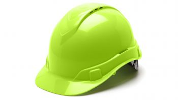 Pyramex HP44131V Ridgeline Hard Hat One Size ANSI Z89.1 standards, Type 1 - Class C, G ABS  Lime Color - 16 / CS