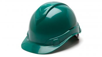 Pyramex HP46135 Ridgeline Hard Hat One Size ANSI Z89.1 standards, Type 1 - Class C, G, and E ABS  Green Color - 16 / CS