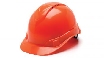 Pyramex HP44141V Ridgeline Hard Hat One Size ANSI Z89.1 standards, Type 1 - Class C, G ABS  Orange Color - 16 / CS