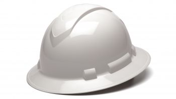 Pyramex HP54110 Ridgeline Hard Hat One Size ANSI Z89.1 standards, Type 1 - Class C, G, and E ABS  White Color - 12 / CS
