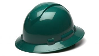 Pyramex HP54135 Ridgeline Full Brim Hard Hat One Size ANSI Z89.1 standards, Type 1 - Class C, G, and E ABS  Green Color - 12 / CS