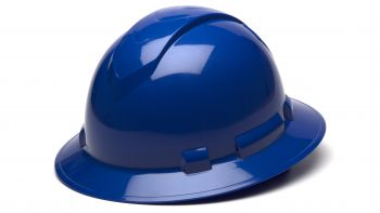 Pyramex HP54160 Ridgeline Full Brim Hard Hat One Size ANSI Z89.1 standards, Type 1 - Class C, G, and E ABS  Blue Color - 12 / CS