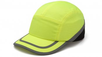 Pyramex HP50031 Baseball Bump Cap One Size  Polyethylene  Lime Color - 12 / CS