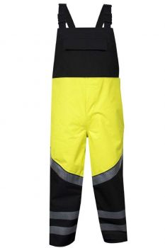 National Safety Apparel HYDROBIB-YB-LG-S HYDROlite FR Hi-Vis Bib Overall - Class E Large Short
