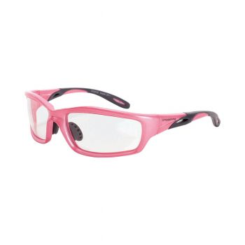 Radians Infinity Clear Pink Frame Safety Glasses 12 PR/Box
