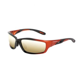 Radians Infinity Gold mirror OrangeBlack Frame Safety Glasses Black 12 PR/Box