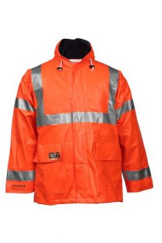 Tingley Eclipse Jacket Fluorescent Orange-Red Attached Hood| J44129