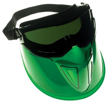 Jackson Safety 18631 The Shield* Goggles with Black Frame and IRUV 3.0 Green Lens