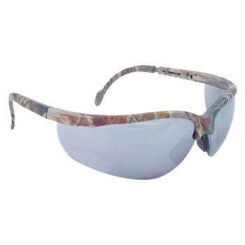 Radians Journey - Silver Mirror Lens - Realtree Camo Frame Safety Glasses Half Frame Style Camo Color - 12 Pairs / Box