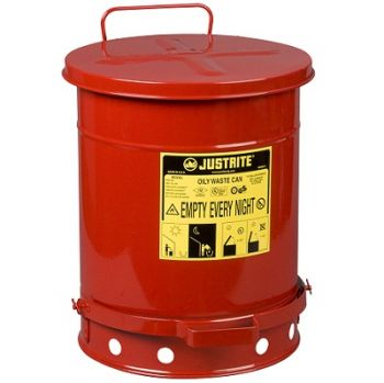 Red Oily Waste Can - 10 Gallon
