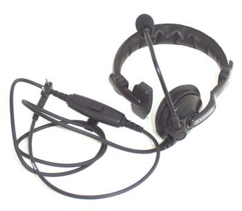 Single Muff Headset with Boom Microphone and In-line PTT