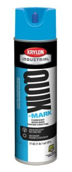 Krylon QUIK MARK Fluorescent Caution Blue Water based Inverted Marking Paints 17 oz. 12 Cans