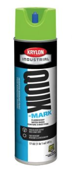 Krylon QUIK MARK Fluorescent Green Water based Inverted Marking Paints 17 oz. 12 Cans